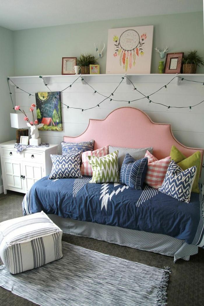 décoration-chambre-ado-fille-tete-de-lit-originale