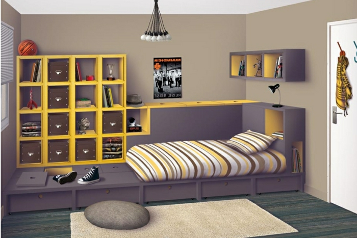modele de chambre pour fille ado avec des id es int ressantes pour la conception. Black Bedroom Furniture Sets. Home Design Ideas