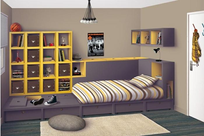 décoration-chambre-fille-ado-décoration-chambre-fille-ado-baskets