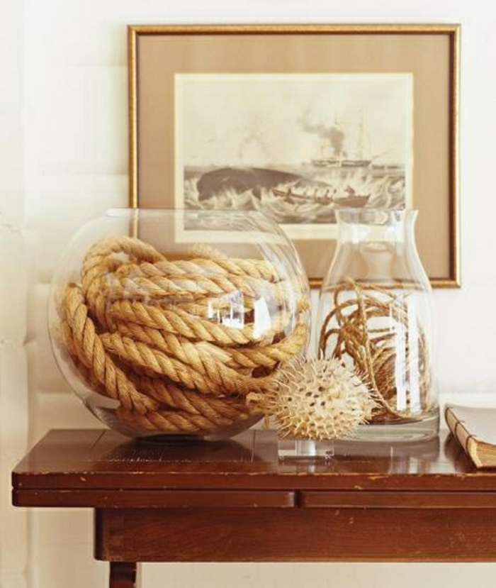 La d coration marine en 50 photos inspirantes - Objet de decoration pour salon ...