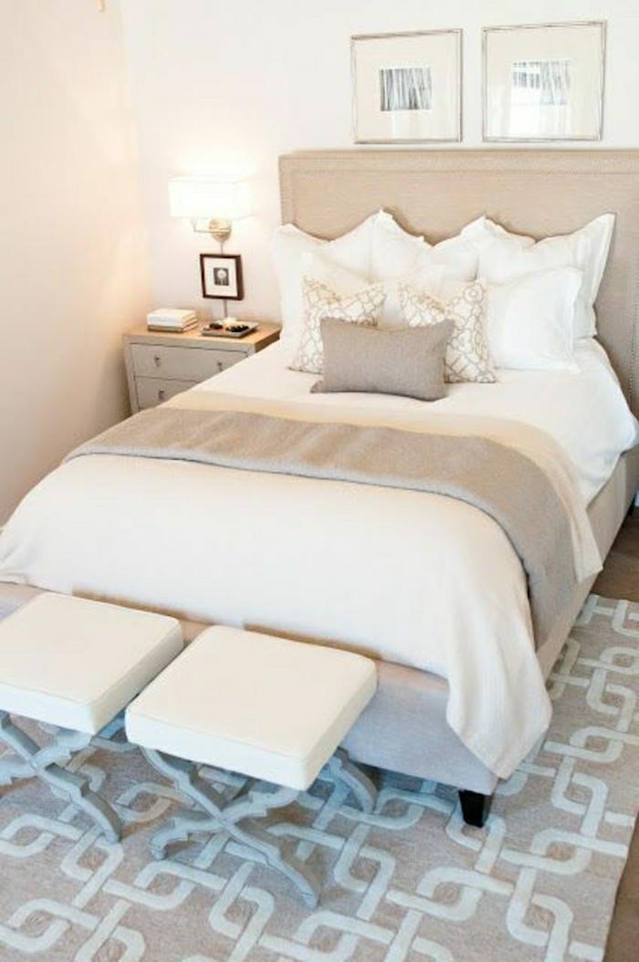 La descente de lit comment on peut la choisir for Chemin de table beige
