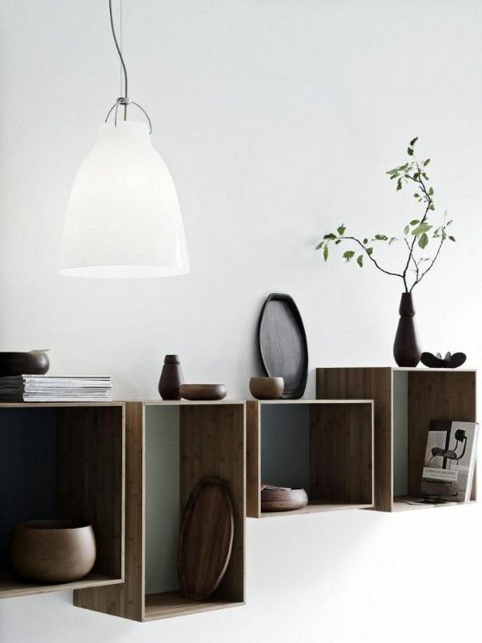 etagere-murale-cube-mur-blanc-salon-etagere-en-bois-lustre-blanc-etagere-en-bois