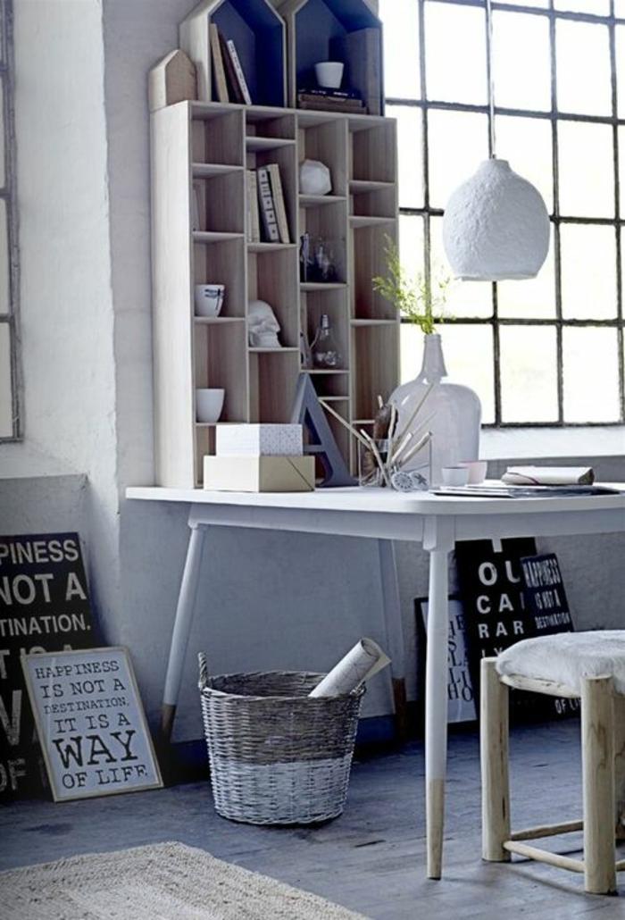 etageres-murales-design-en-bois-coin-de-travail-domicil-sol-en-lin-gris-fenetre-grande