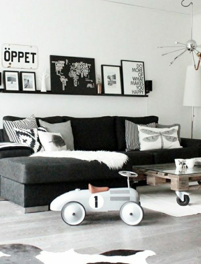 faire-une-table-basse-en-palette-gris-noir-peintures
