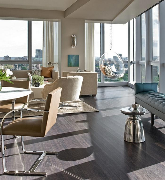 fauteuil-boule-appartement-magnifique-et-chaise-suspendue