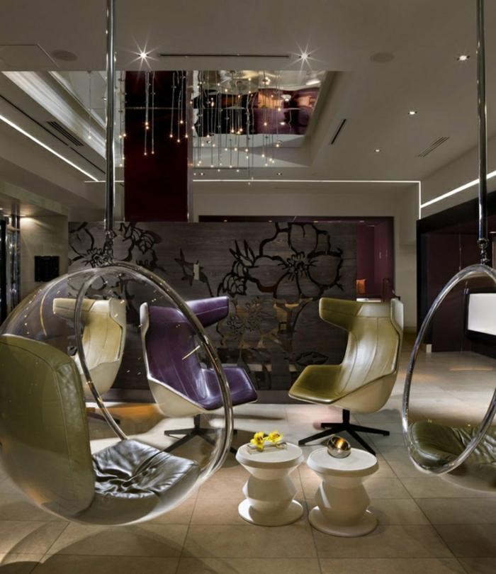 le fauteuil boule un meuble de d co et de d tente. Black Bedroom Furniture Sets. Home Design Ideas
