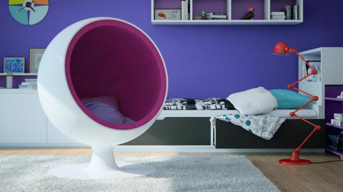 fauteuil-boule-l'intérieur-en-textile-lilas