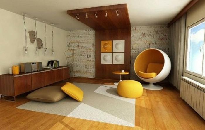 fauteuil-boule-spectaculaire-un-intérieur-minimaliste