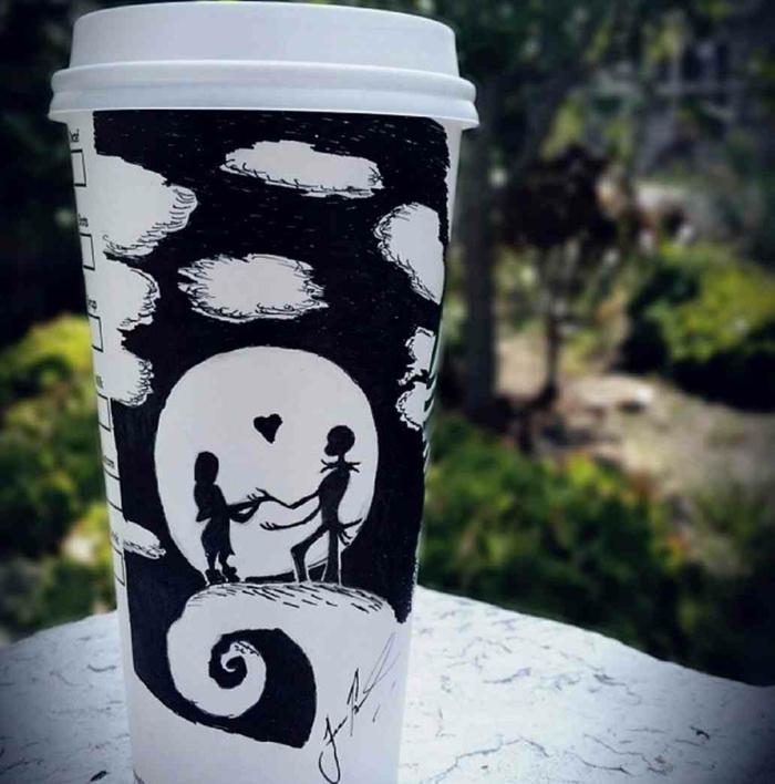 gobelet-boissons-chaudes-ou-froides-art-peinture-sur-tasse-carton