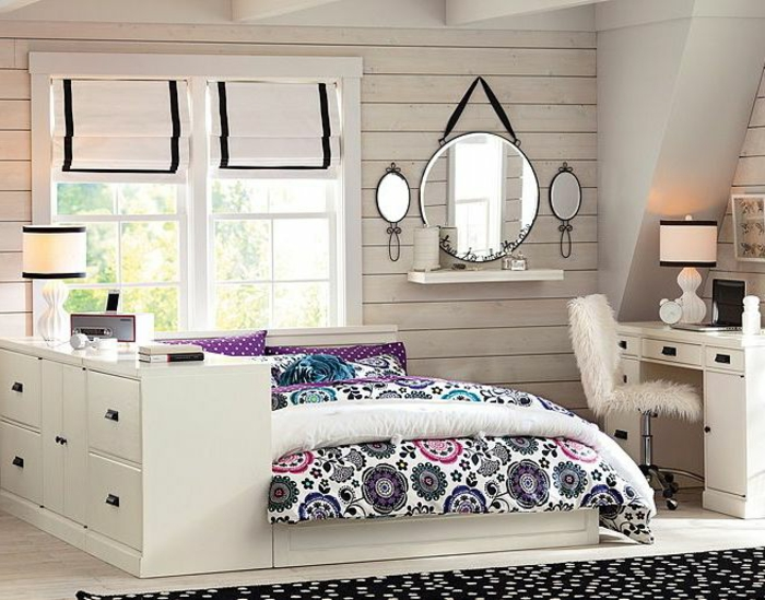 La chambre ado fille 75 id es de d coration for Idee de decoration chambre
