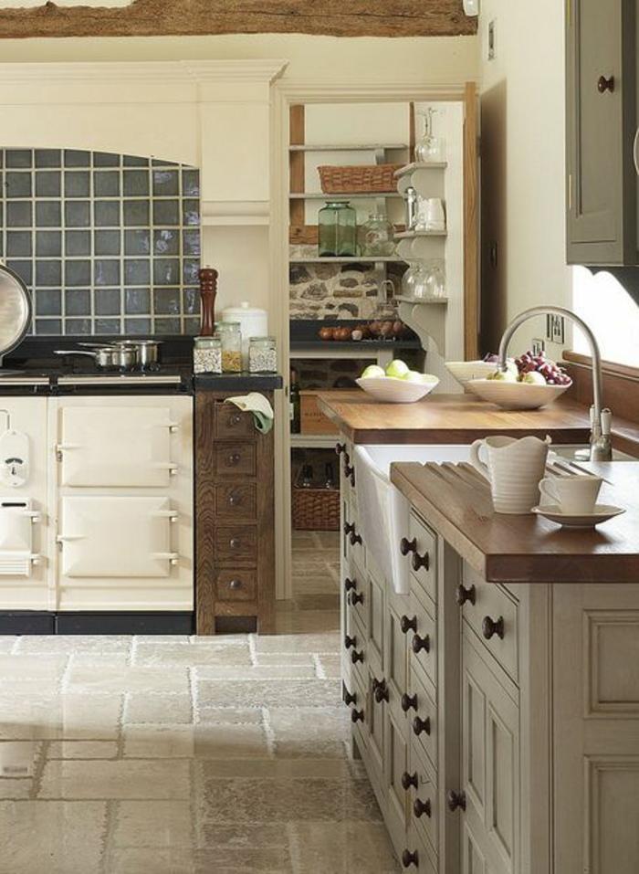 idée-couleur-cuisine-grise-bar-de-cuisine-grise-lustre-dans-la-cuisine-modele