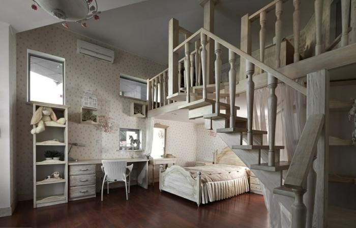 idée-déco-chambre-ado-fille-original-escaliers