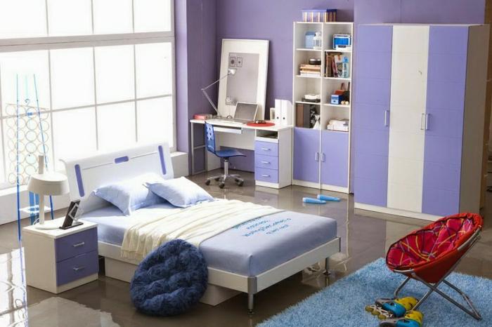 ide dco chambre ado fille originale violet - Chambre Pour Fille Ado