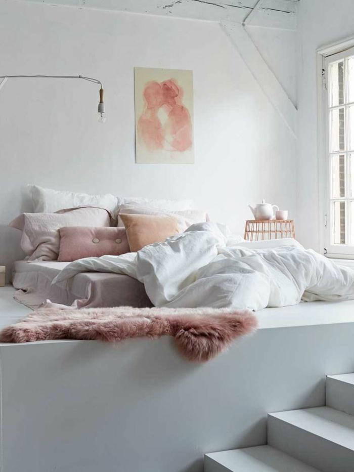 chambre a coucher deco romantique. Black Bedroom Furniture Sets. Home Design Ideas