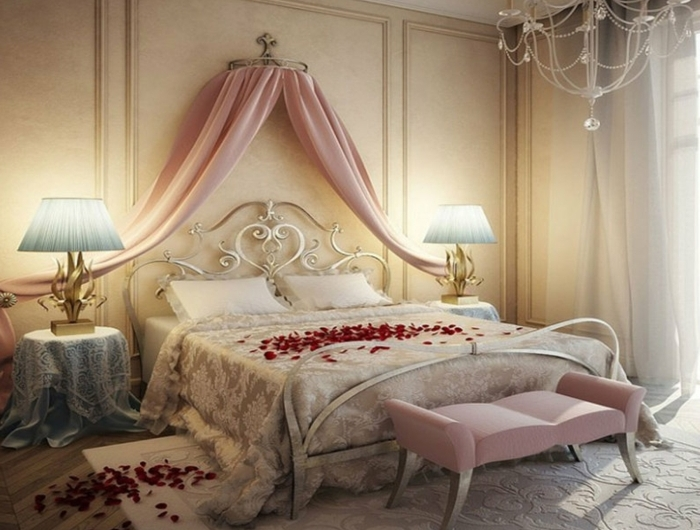 awesome idee deco chambre romantique images awesome. Black Bedroom Furniture Sets. Home Design Ideas