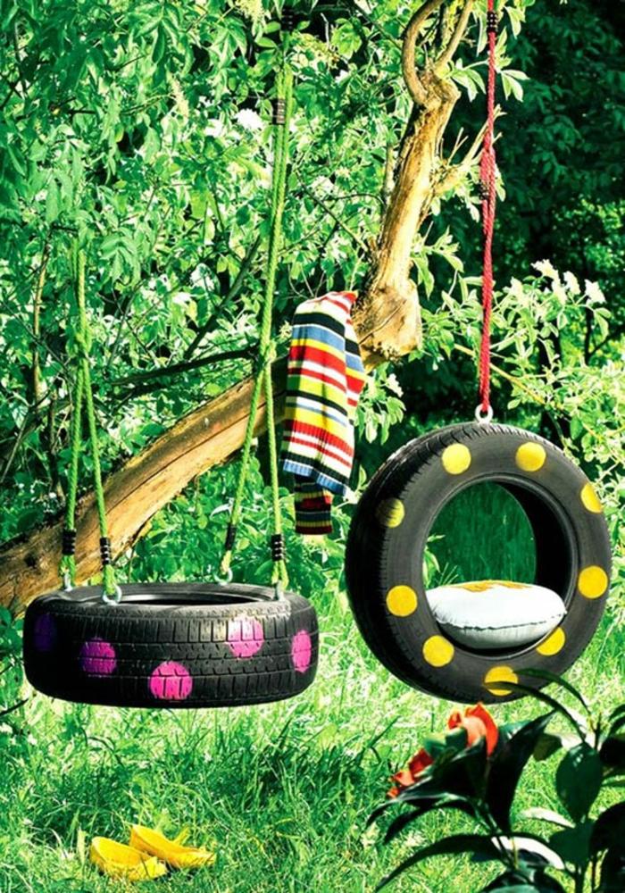 idées-pour-le-recyclage-pneux-la-balançoire-au-nature