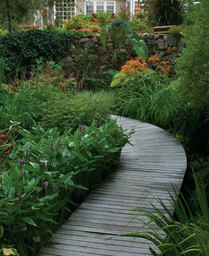 jardin paysager alle en bois le jardin paysager tendance moderne