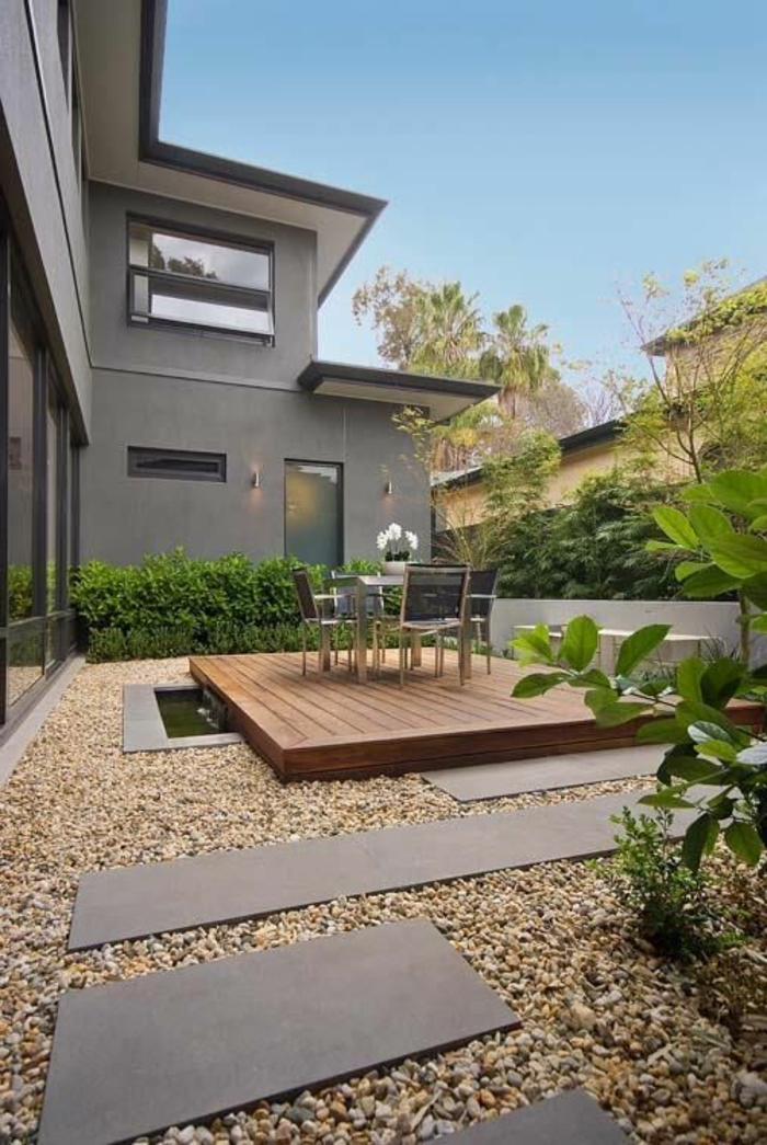 Le jardin paysager tendance moderne de jardinage for Amenagement paysager moderne