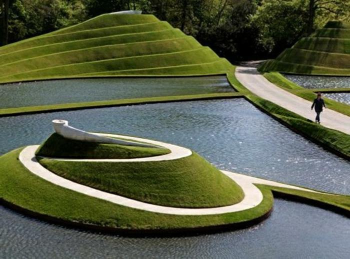 Le jardin paysager tendance moderne de jardinage for Jardin publiques