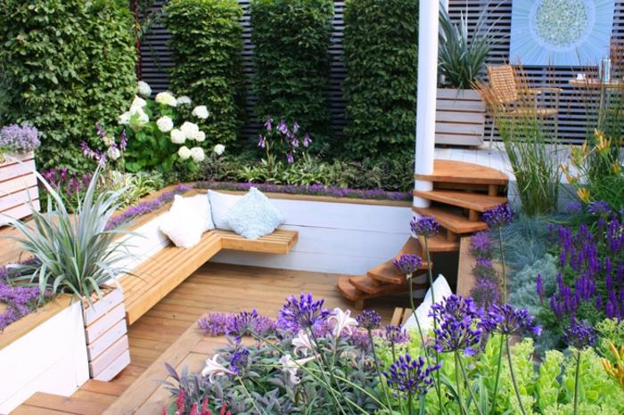 le jardin paysager tendance moderne de jardinage