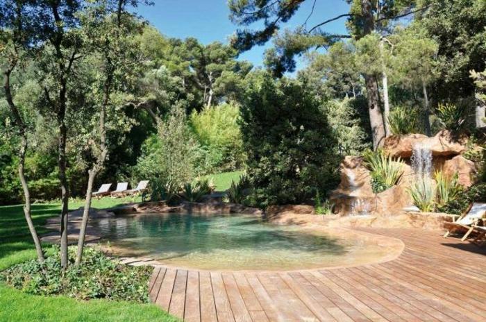 Le jardin paysager tendance moderne de jardinage for Piscine paysagee