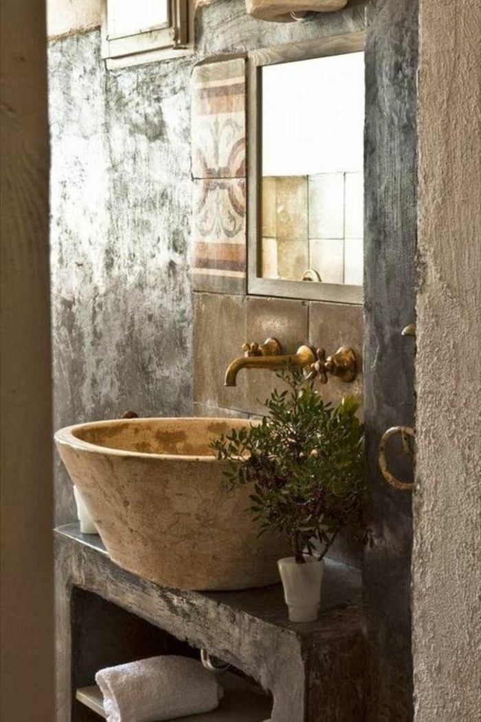 Le th me du jour est la salle de bain r tro for Objet salle de bain