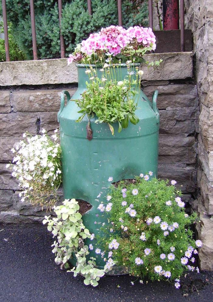 le-gros-pot-de-fleur-le-verte-vintage-idée-originale