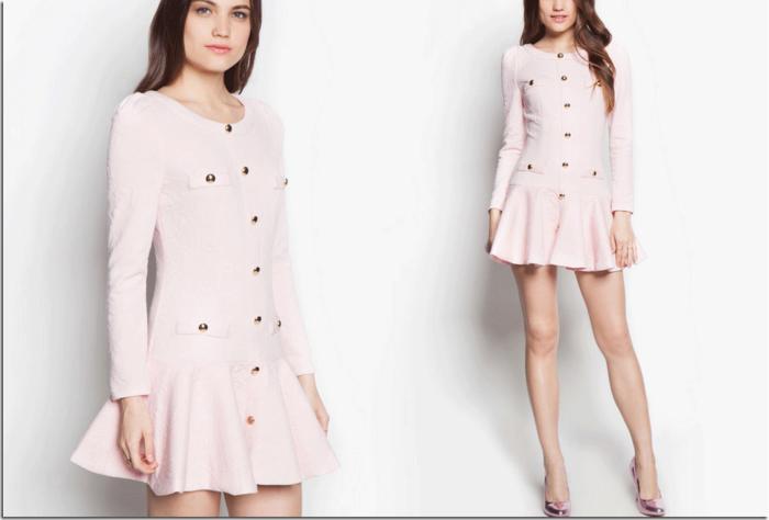 le-rose-poudrée-robe-jolie-courte-elegante