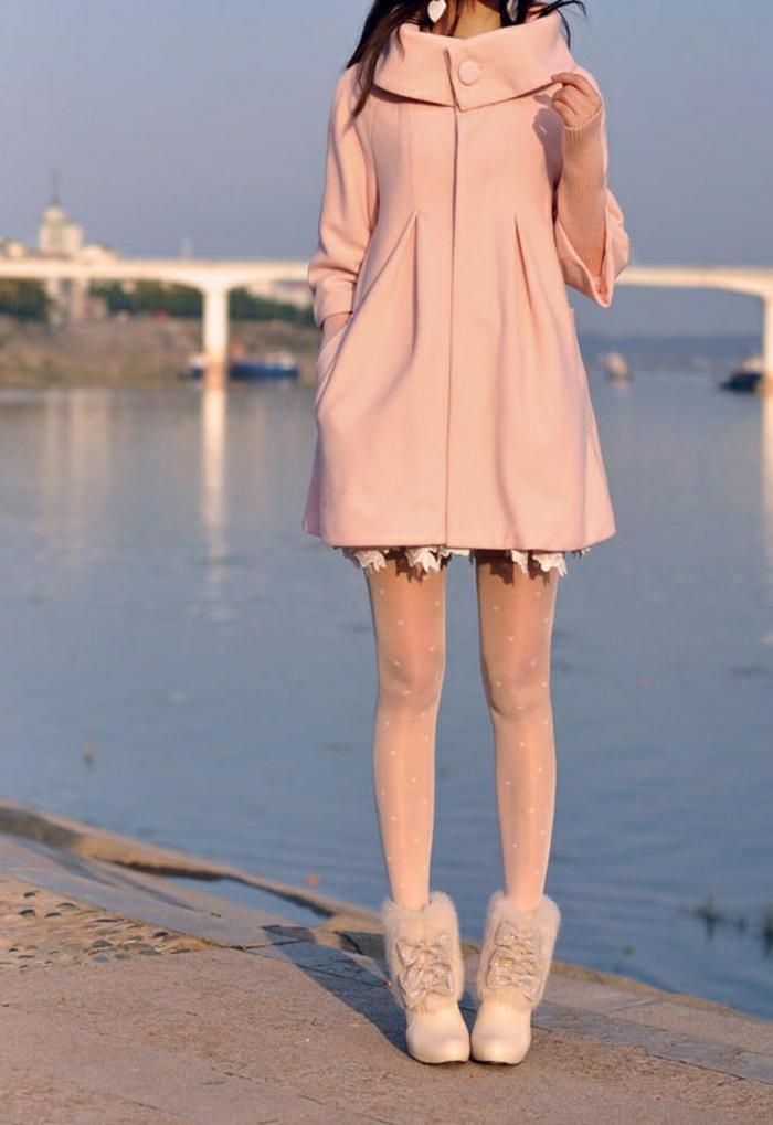 le-rose-poudrée-robe-jolie-hiver-tenue