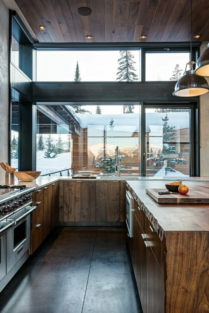 maison-architecte-moderne-maison-élégant-cuisine-en-bois-élégante