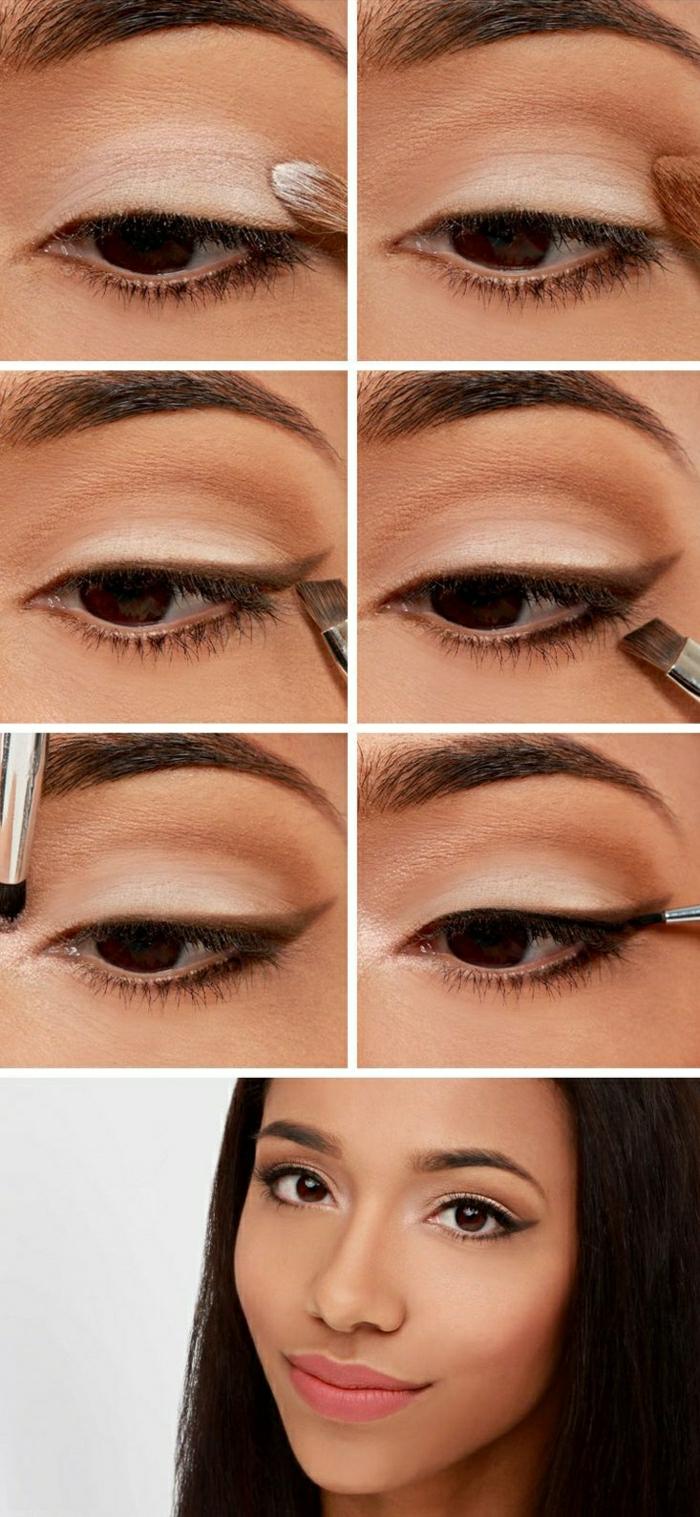maquillage-des-yeux-marrons-idées-blanc-palette