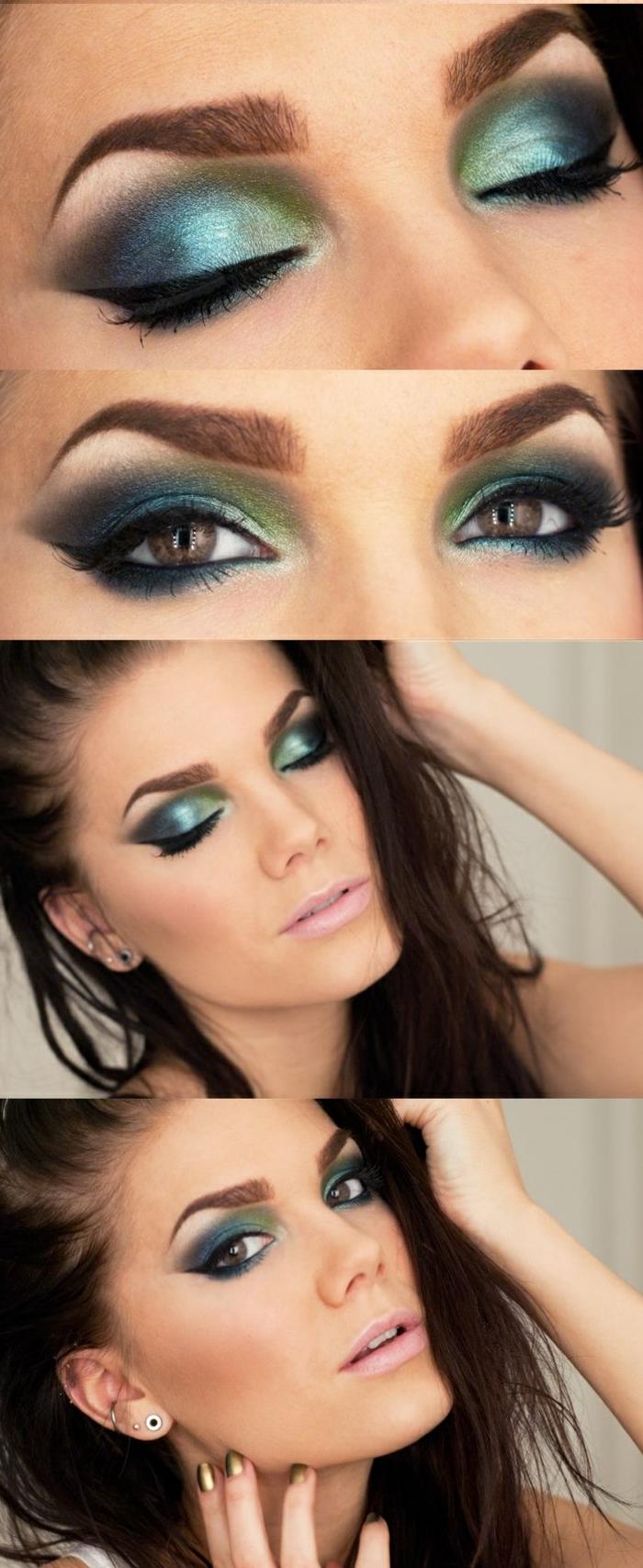 maquillage-des-yeux-marrons-idées-fumé-couleurs