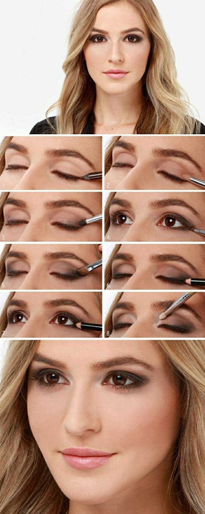 maquillage-des-yeux-marrons-idées-noir-oeil-fumé