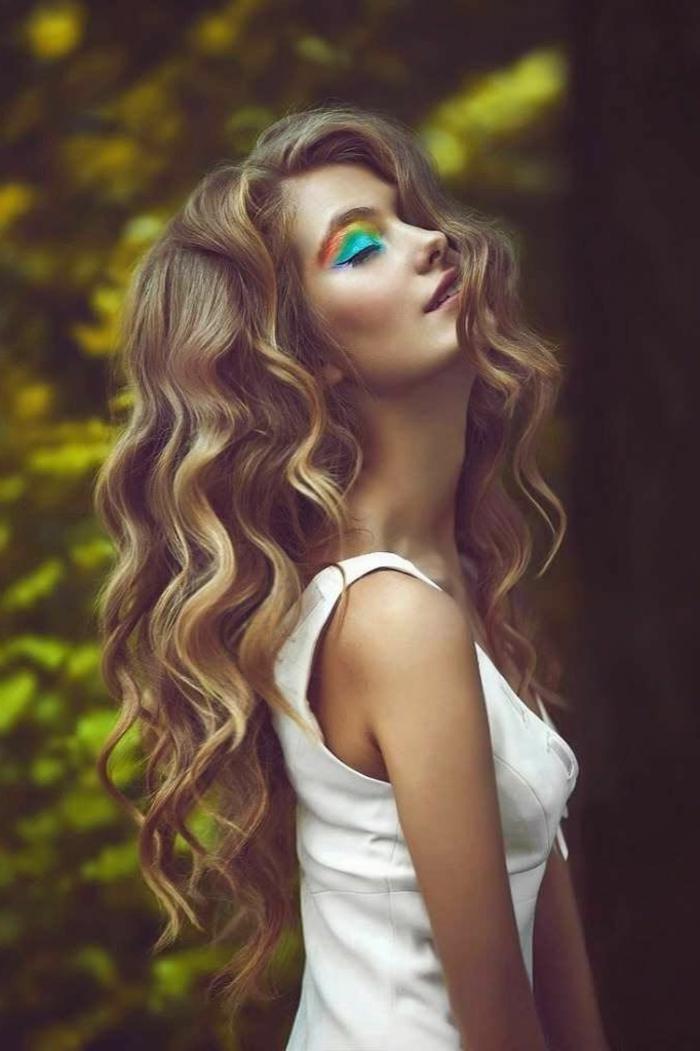 maquillage-pour-yeux-marron-arc-en-ciel-couleurs-palette