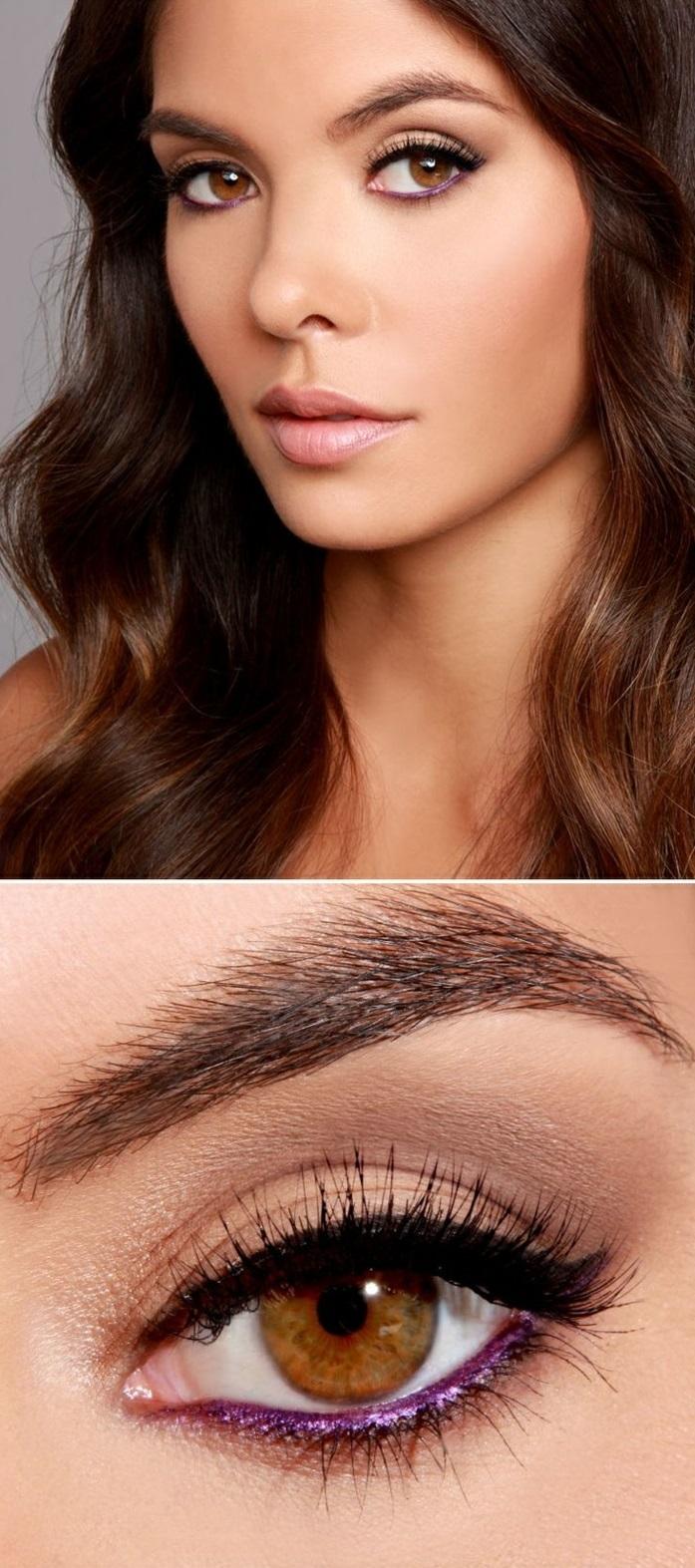 maquillage-yeux-marron-soirée