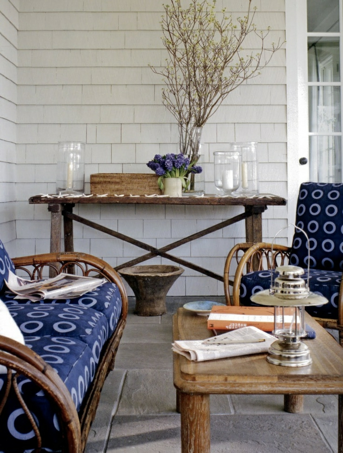 Les meubles en rotin sont le th me du jour - Meubles pour veranda ...