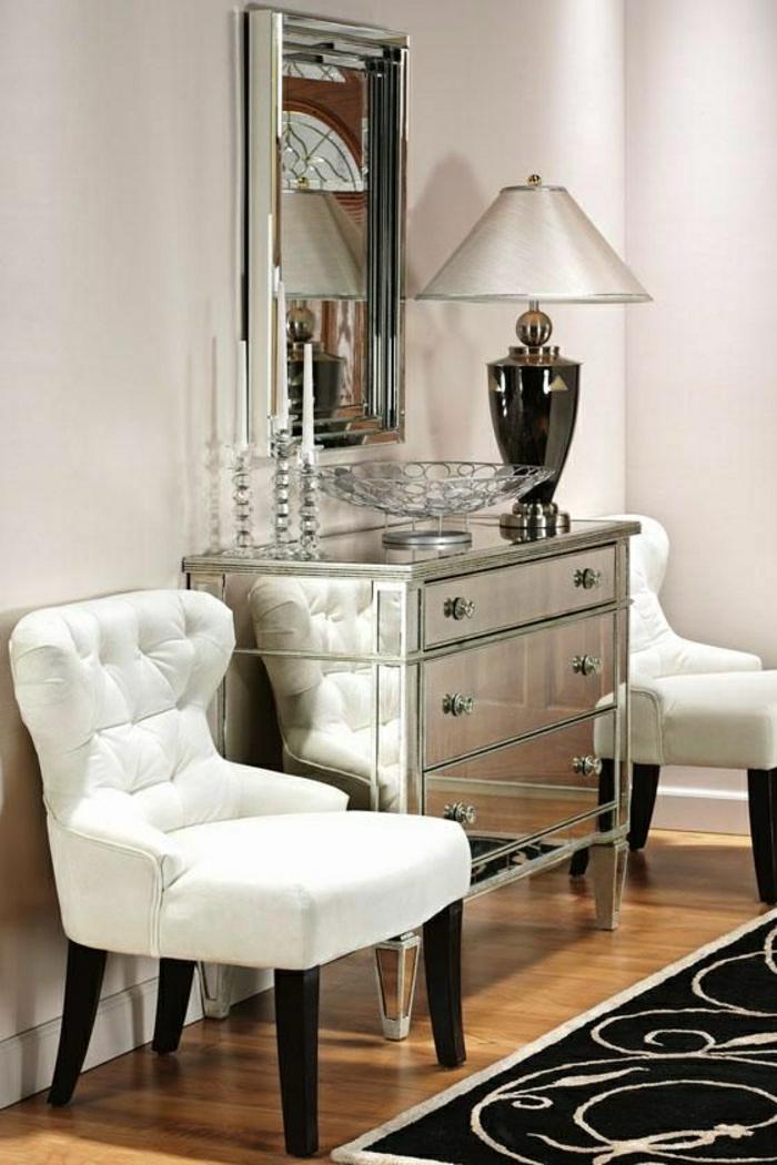 lampe blanche avec un meuble d'entrée moderne