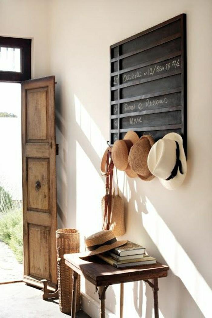 console d'entrée en bois, console design moderne, ikea meuble chaussre