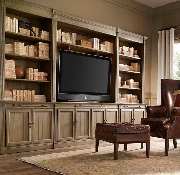Le meuble massif, est il convenable pour l'intérieur? # Bibliothèque En Bois Massif