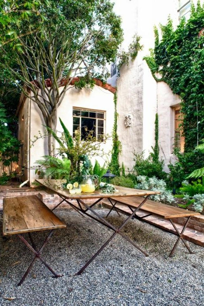 meuble-rustique-pour-le-jardin-meuble-en-bois-et-fer-aménagement-de-jardin