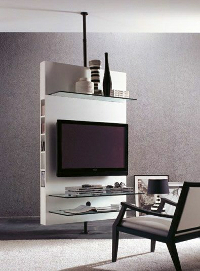 Le meuble t l en 50 photos des id es inspirantes - Meuble tv en coin design ...