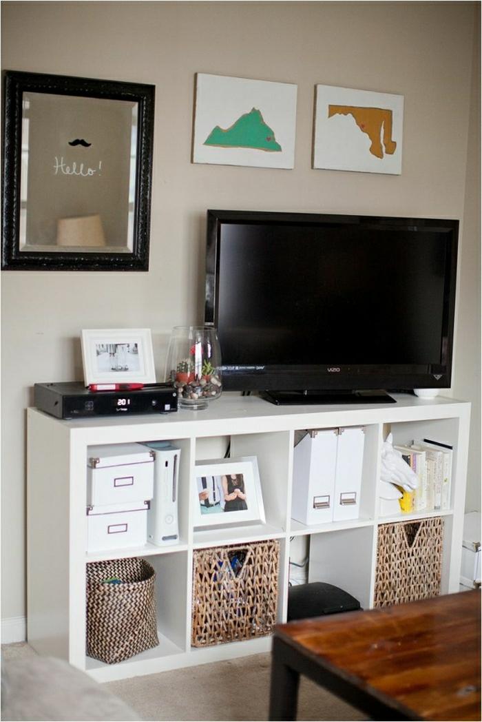 meuble-tv-led-noir-meuble-basse-en-bois-cube-de-rangement-en-bois-blanc-salon