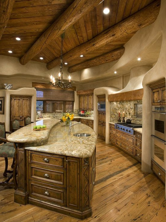 Le meuble massif est il convenable pour l 39 int rieur for Meuble cuisine rustique
