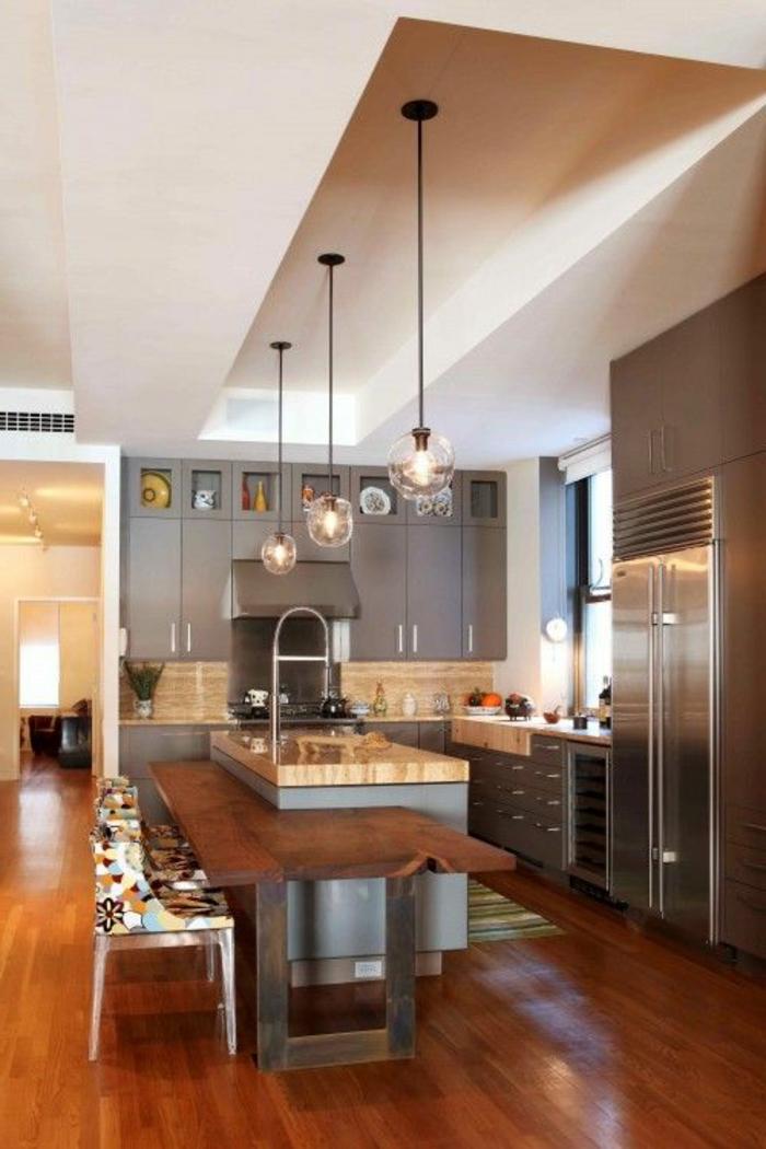 Meuble Vintage Chambre Bebe :  de la cuisine moderne, meubles de cuisine, couleur gris
