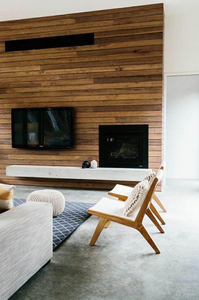 mur-en-plancher-tv-console-noir-tapis-gris-sol-gris-chaise-beige-canapé-beige