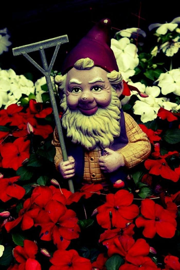 nains-de-jardin-déco-deoration-jardin-fleurs-rouges-roses-blanc-beaucoup-de-fleurs