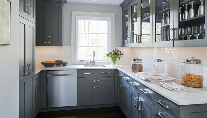 La cuisine grise plut t oui ou plut t non - Amenagement meuble cuisine ikea ...