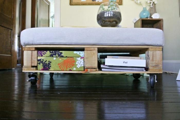 La table basse palette 60 id es cr atives pour la - Faire une table basse avec une palette ...