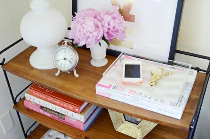 pivoine-blanche-bouquet-originale -organisation-table-de-chevet