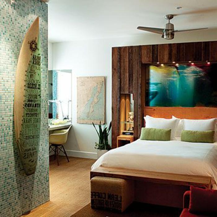 planche-de-surf-chambre-à-coucher-à-thème-nautique